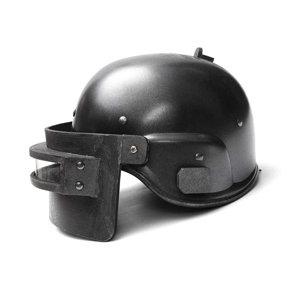 QCY AT Máscara de Batalla Nivel 3 Cascos de Seguridad Protección de la Cabeza del Casquillo del CS Wargame Airsoft Paintball maniquí Gas Casco for Playerunknown