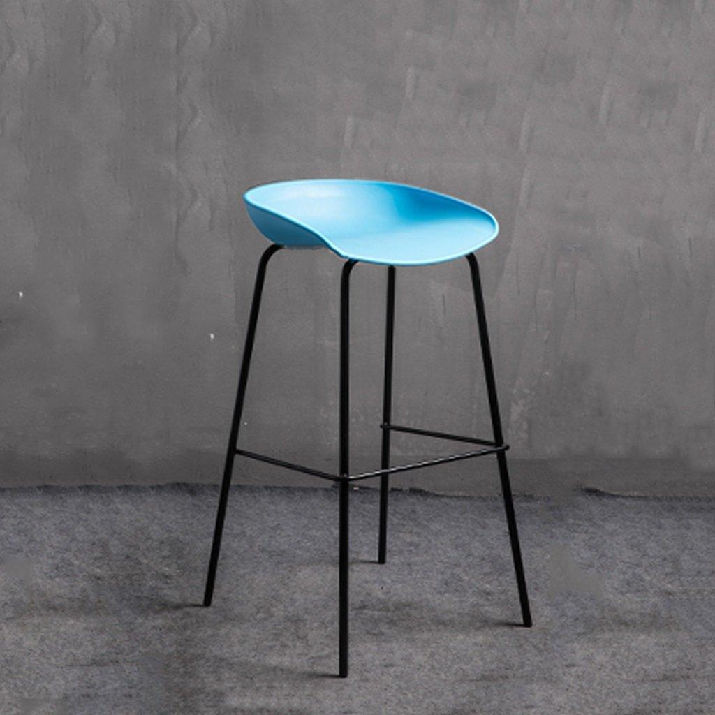 青い鍛鉄棒の椅子近代的なミニマリスト創造的な棒の椅子北欧の棒のスツール国内の高いスツールのカフェチェア (色 : Black bracket) B07D8QPVQR Black bracket Black bracket