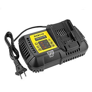 Powilling DCB112 DCB118 Li-Ion Battery Charger 12V MAX and 20V MAX for Dewalt DCB101