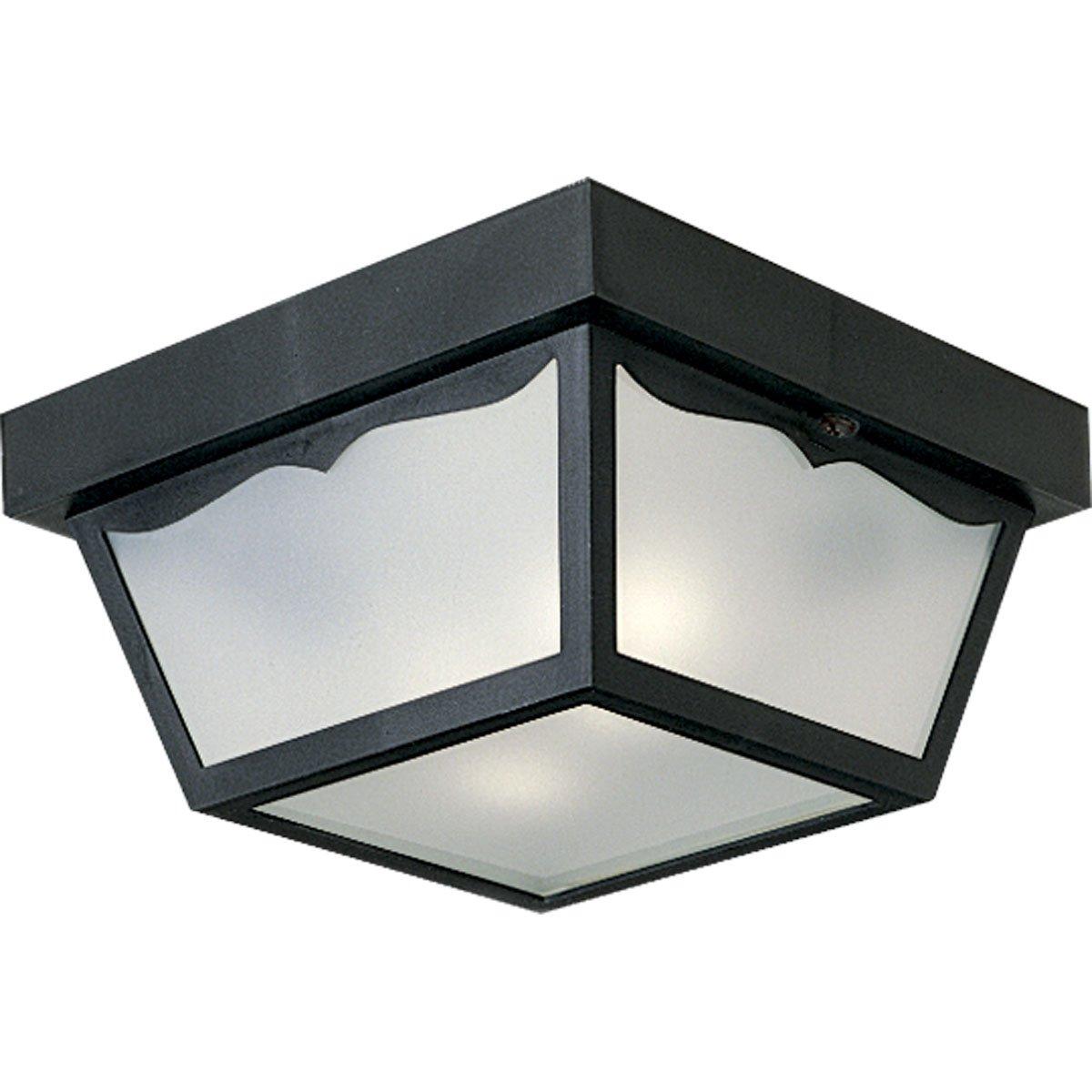 Progress Lighting P5745-31 Non-Metallic Ceiling Light with 1-Piece White Acrylic Diffuser, Black