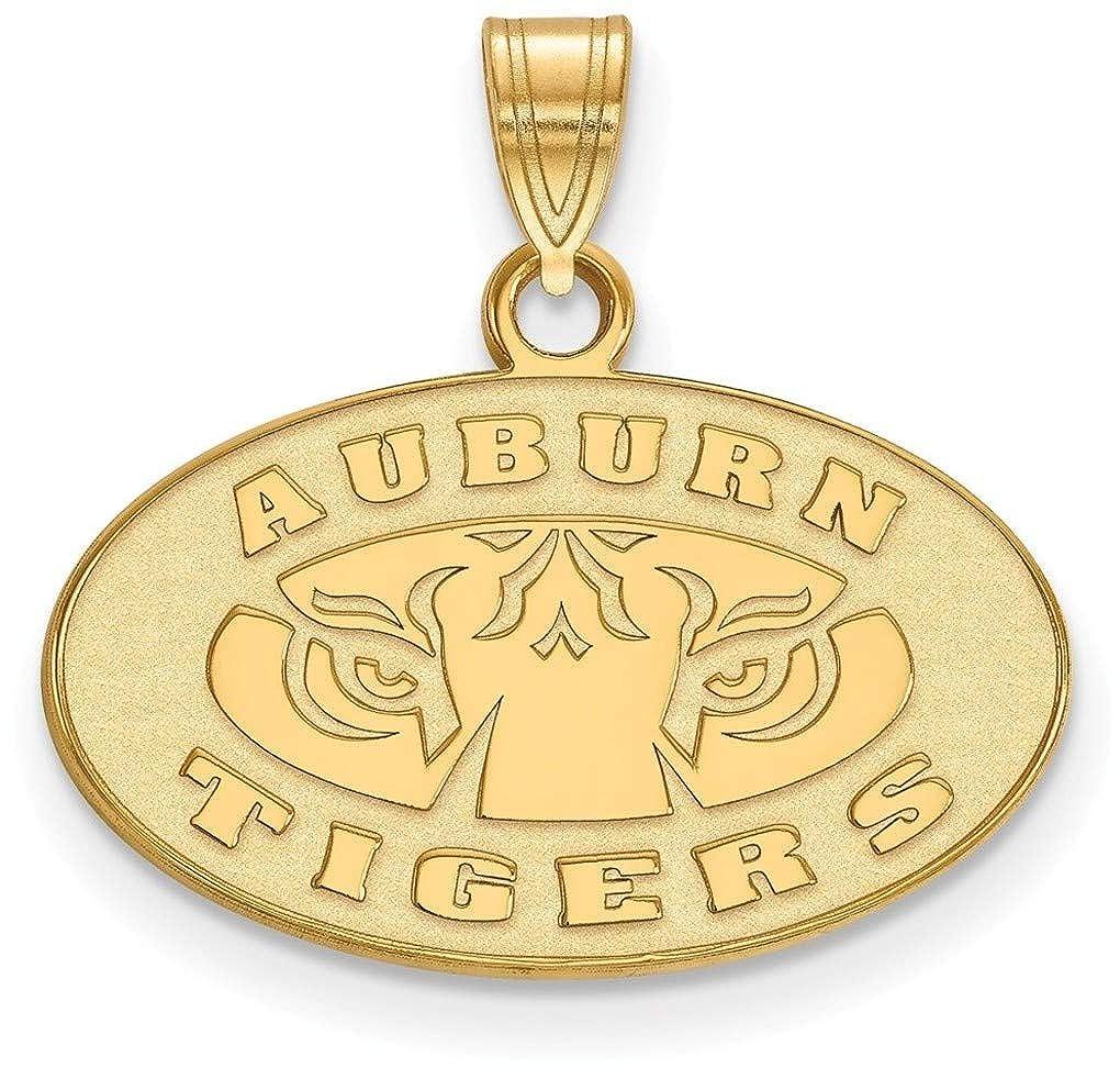 Gold-Plated Sterling Silver Auburn University Small Pendant by LogoArt GP044AU