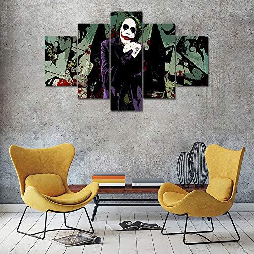 Zbyzzzy 5 Prints on Canvas HD Inkjet Modern Home Office ktv Kids Room HD Inkjet Movie Clown-A.Framed