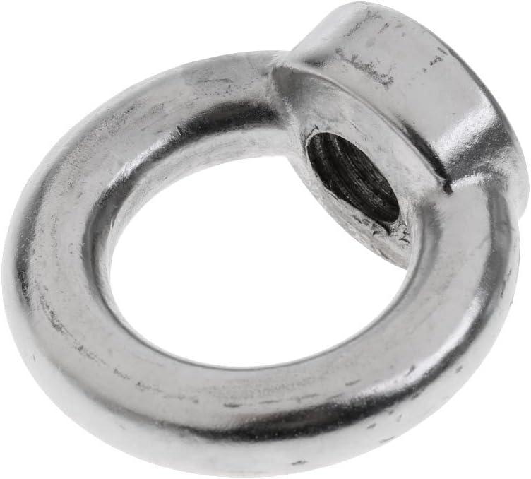 Silver M6 Marine Grade 304 Stainless Steel Lifting Eye Nuts M6 M8 M10-M22 Female Eye Bolts