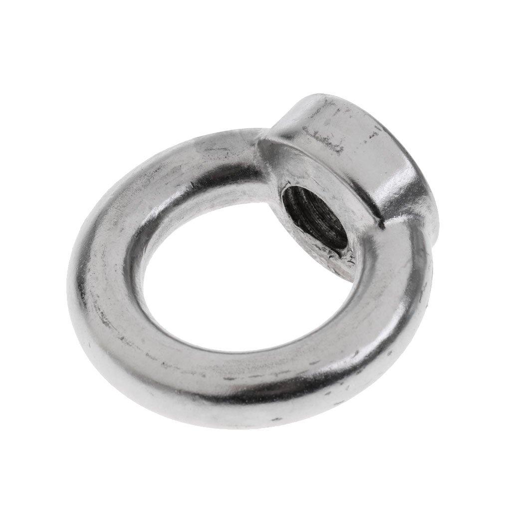 MagiDeal 304 Edelstahl Ringmuttern M6 - M22 Ringmutter - M22