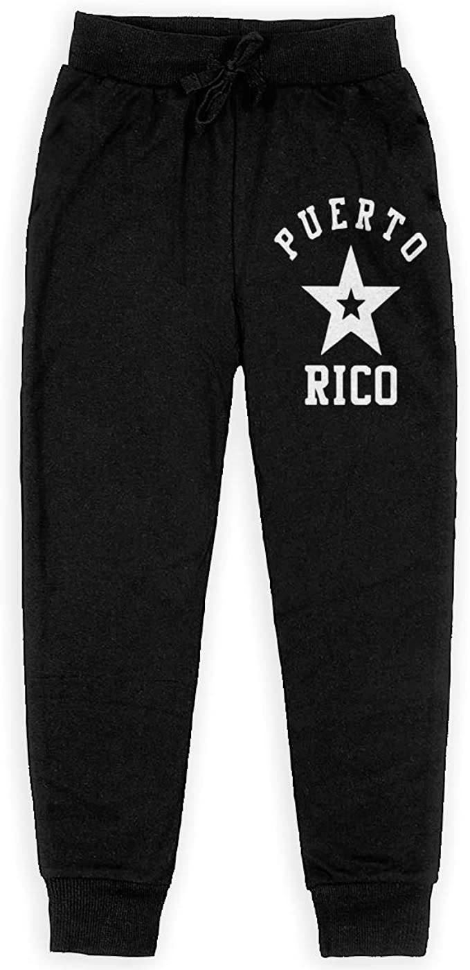 Boys Sweatpants Puerto Rico Star Joggers Sport Training Pants Trousers Cotton Sweatpants for Youth