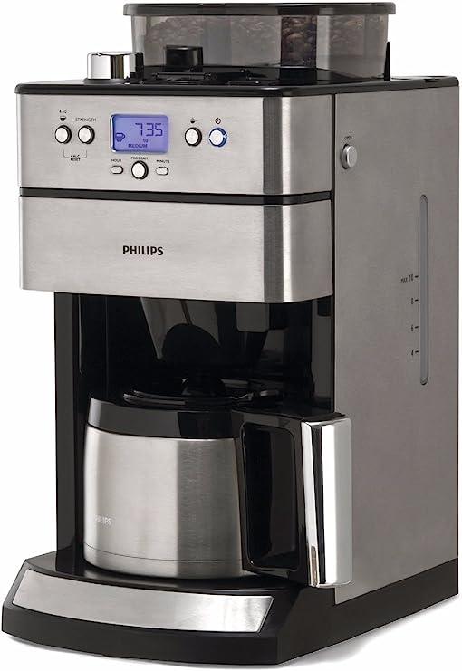 Philips HD7753/00 Grind and Brew - Cafetera por goteo con molinillo (temporizador, jarra térmica): Amazon.es: Hogar