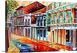 Diane Millsap Premium Thick-Wrap Canvas Wall Art Print entitled Sunny French Quarter Street