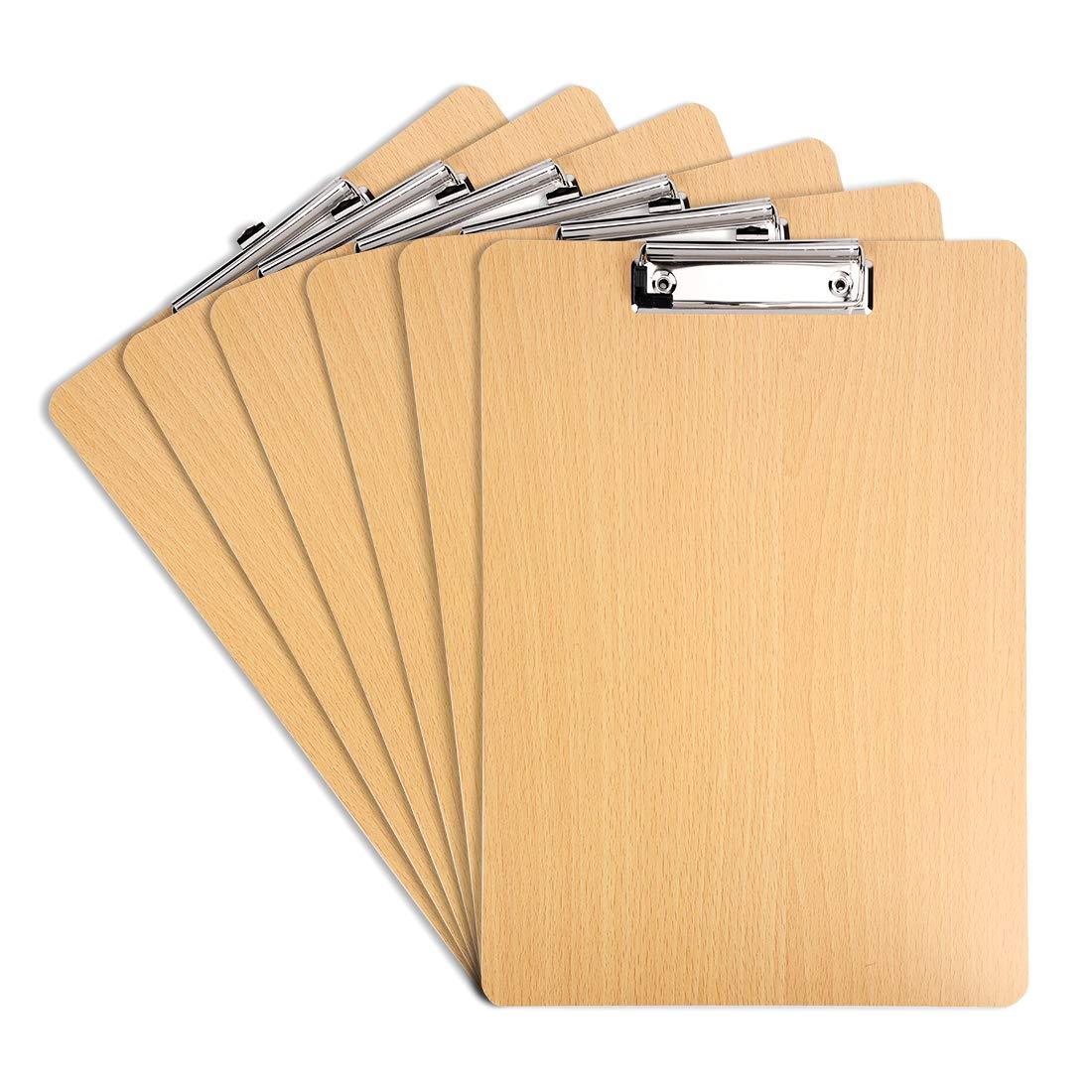 Tovee 6 pezzi Portablocco A4 con Pinza e appeso buca Cartella Porta Documenti A4 Appunti con clip per ristorante affari ufficio
