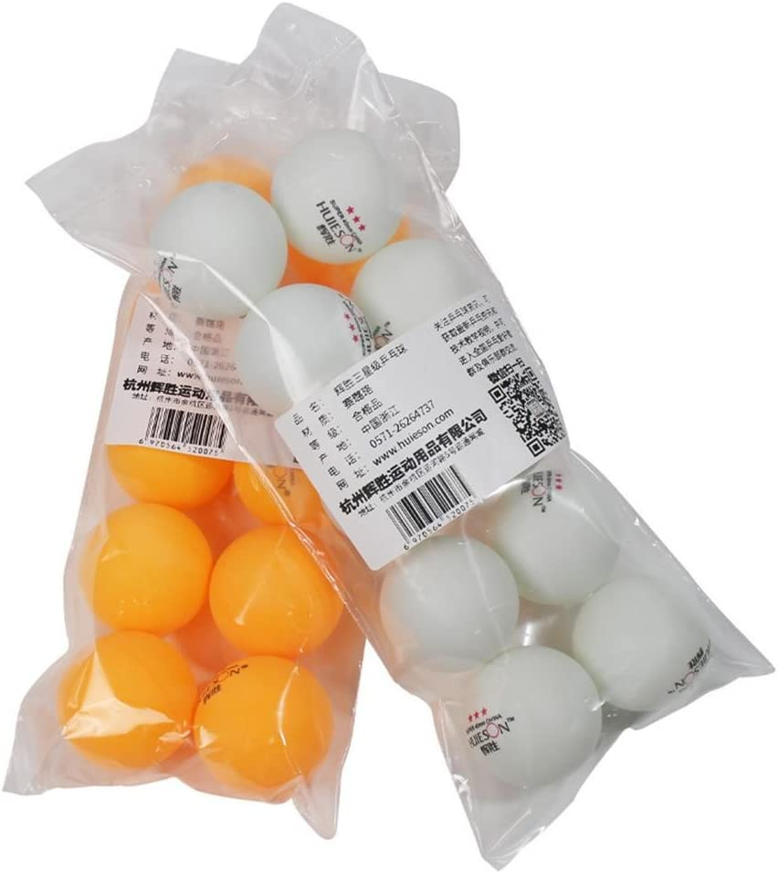 dissylove 10pcs Table Tennis Ball 40mm Diameter 2.9g 3 Star Ping Pong Balls for Competition Training