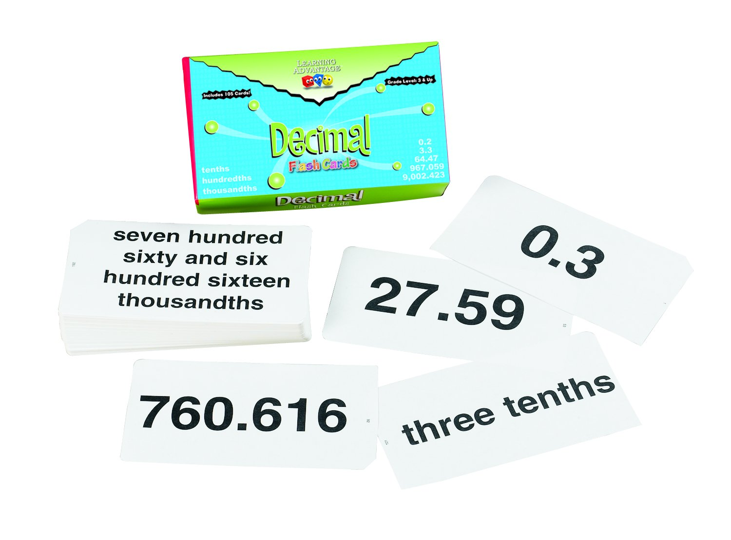 Learning Advantage 8658 Decimal Flash Cards