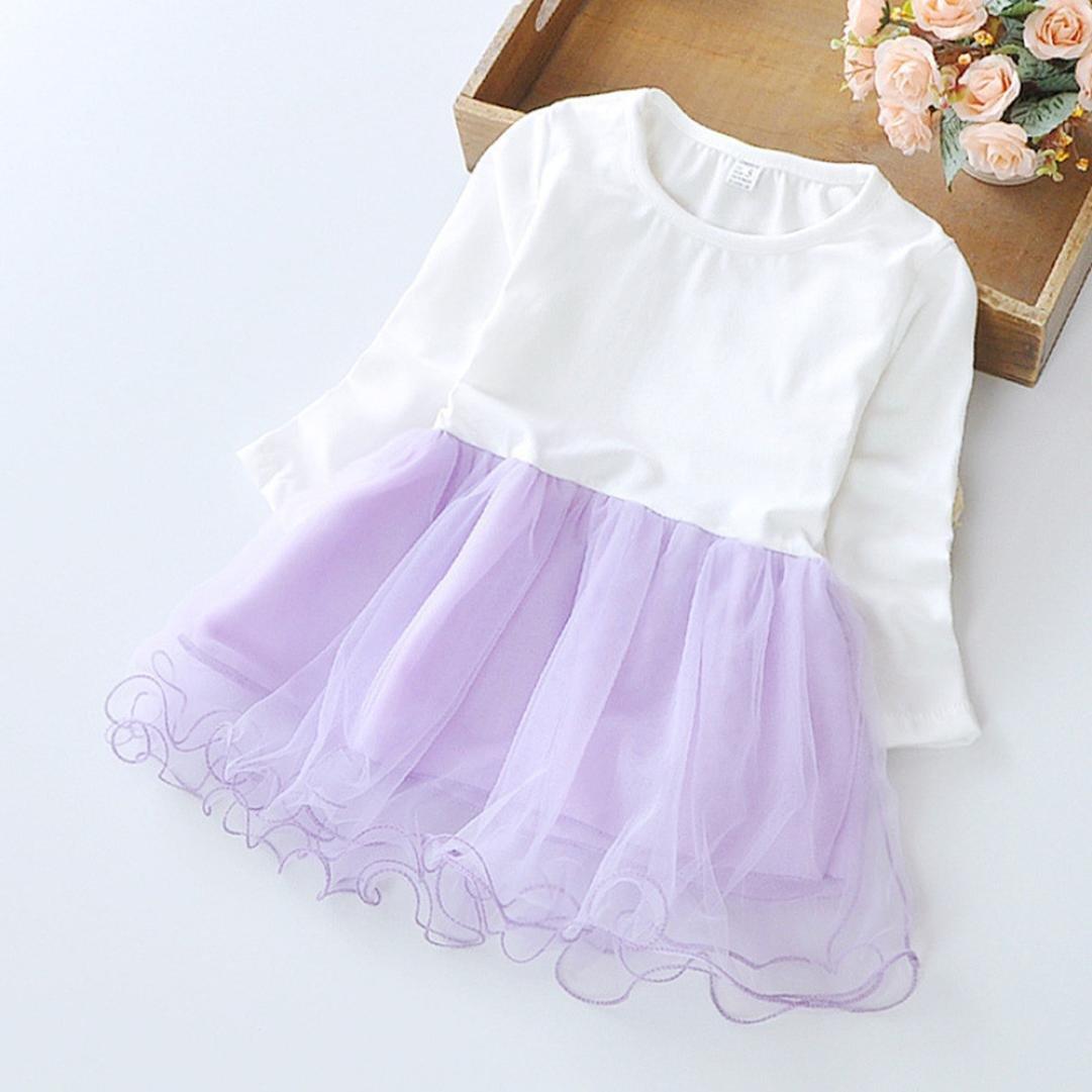 Kobay Herbst Infant Baby Kinder M/ädchen Party Spitze Tutu Prinzessin Kleid Kleidung Outfits