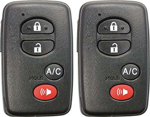 (ReplaceMyRemote New 2010 2011 2012 2013 2014 2015 Toyota Prius 4 Button Keyless Entry Smart Remote Shell Case Housing Only w/ Uncut Emergency Key - FCC ID: HYQ14ACX (Two))