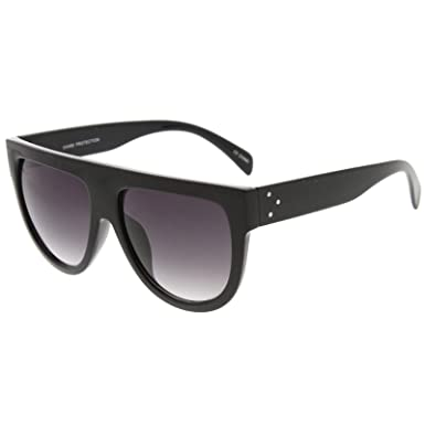 1efc6e4a5 sunglassLA - Large Oversize Wide Temple Flat Top Aviator Sunglasses 57mm
