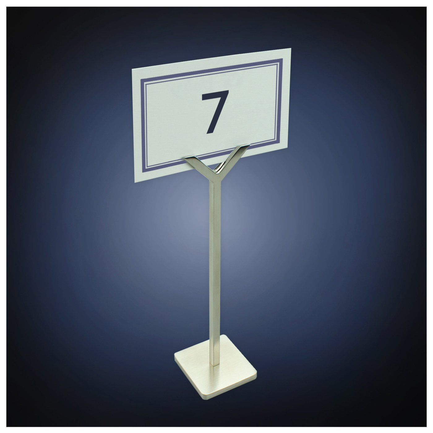 ArtsOnDesk Modern Art Place Card Holder St212 Stainless Steel Satin Finish Patent Applied for-Table Card Holder Menu Memo Recipe Tabletop Number Sign Holder Display Stand Gift