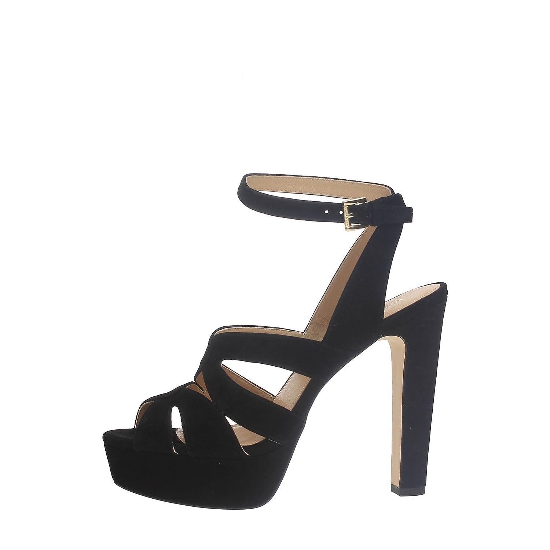 Black sandals michael kors - Michael Kors Winona Black Suede Sandal