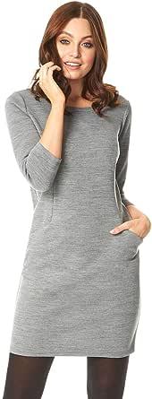Roman Originals Vestido de punto para mujer, con mangas 3/4, para el día, noche, otoño, invierno, Navidad, etc.