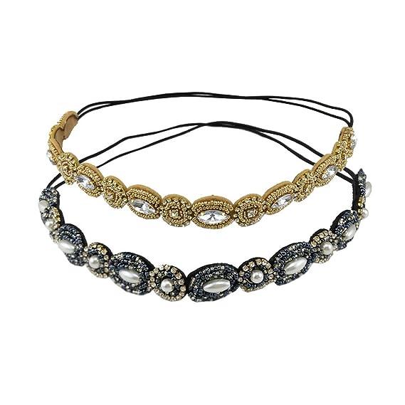 Deep Blue Crystal Headband Hair Jewelry