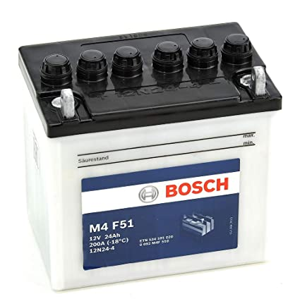 Bosch M4F51 Batería motocicleta 12N24-4 - 12V Plomo 24A/h-200A ...