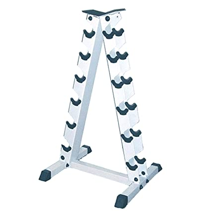 Amazon.com: Apollo Athletics a-frame mancuernas Rack, acero ...