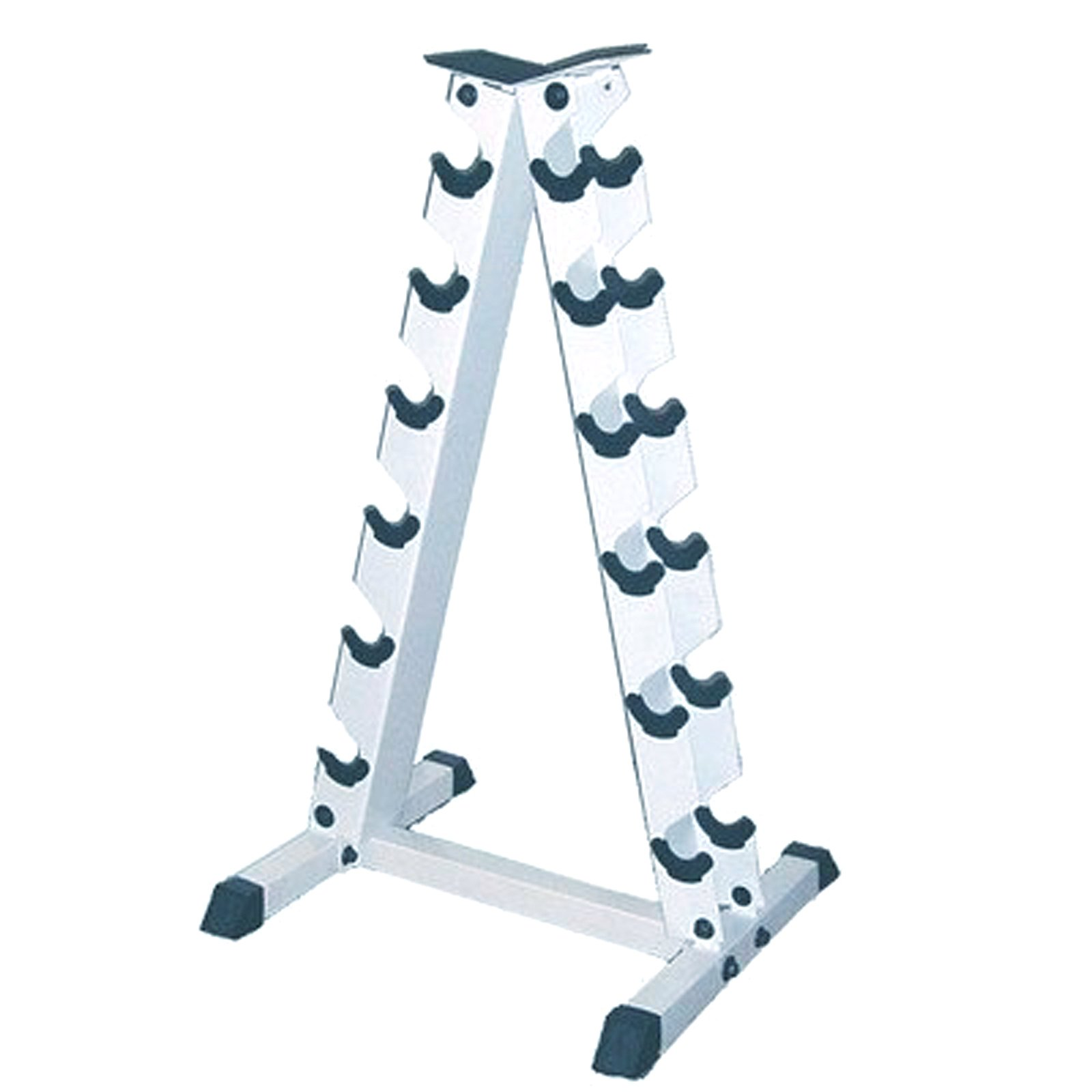 Apollo Athletics A-Frame Dumbbell Rack, Steel Storage Rack Organizer for 6-Pair Dumbells