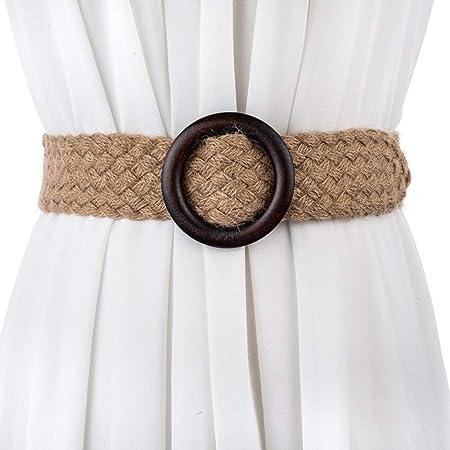 Cinturón para Mujer Moda Wild Art Fan algodón Gasa de Cintura ...