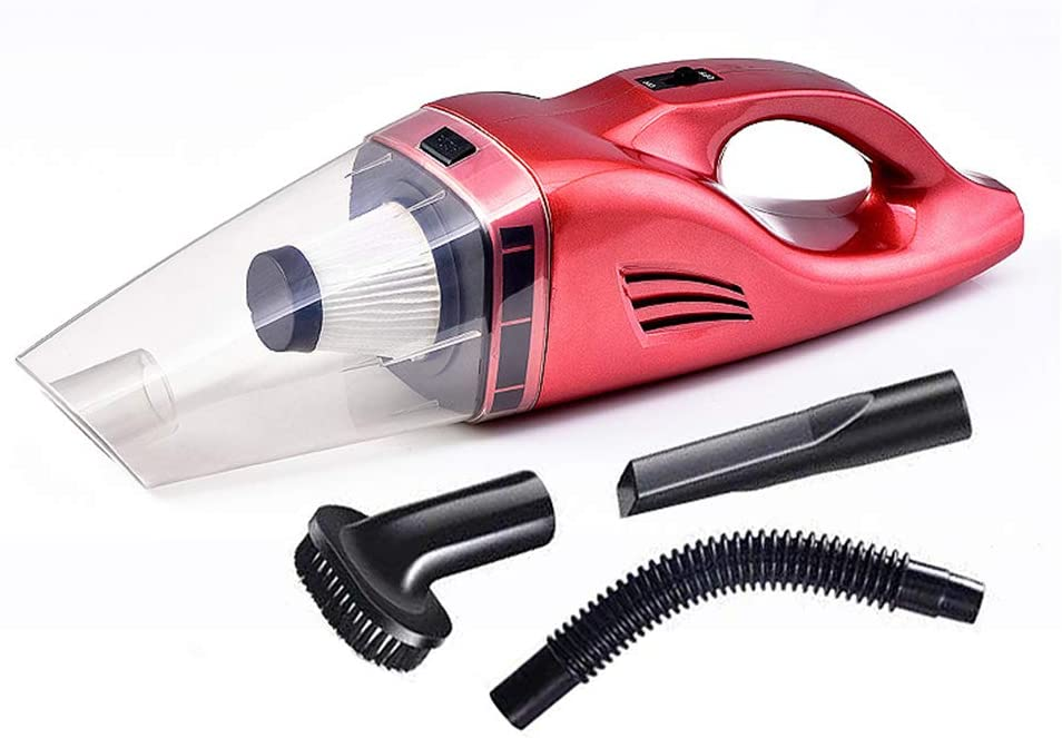 MAWA Aspiradora de mano sin cable, coche Aspirador Super Strong succión húmedo/seco de vacío automático para el coche y Limpieza del hogar,Rojo