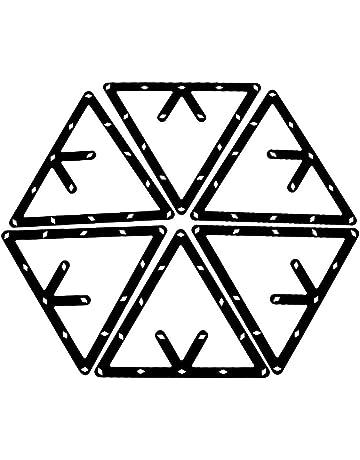 Bolas de Billar inglesas de pl/ástico con Forma de tri/ángulo Rtengtunn