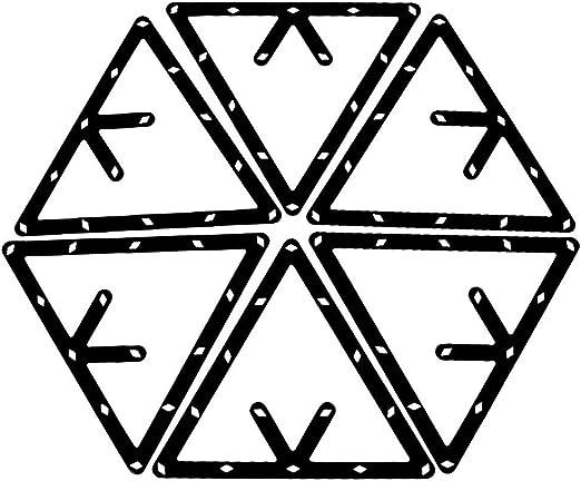 JVSISM 6pzs Estante de Magia Accesorios de Taco de triangulo de ...