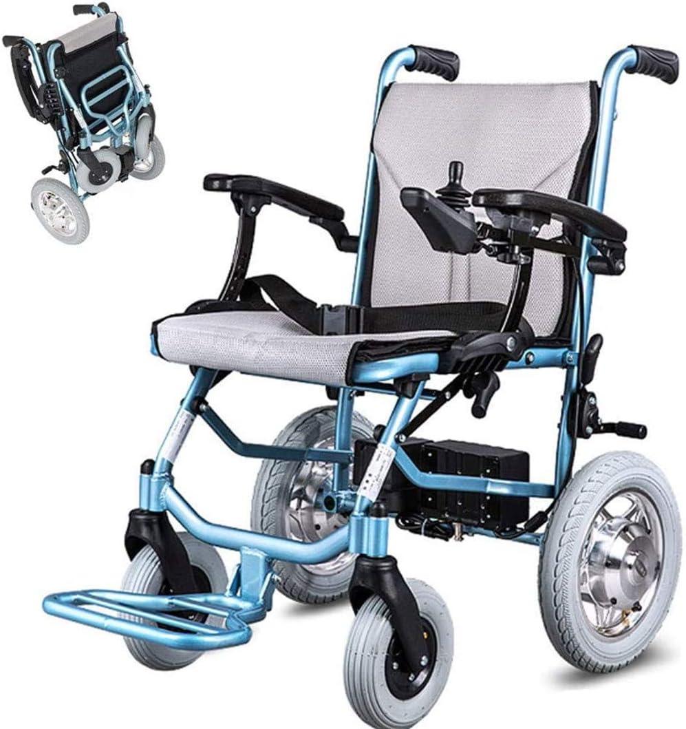 Jacquelyn Silla De Ruedas Eléctrica Plegable, Silla De Ruedas De Viaje Ligera, Rueda Antivuelco Ajustable + Joystick Inteligente para Personas Discapacitadas/Ancianas Adecuadas