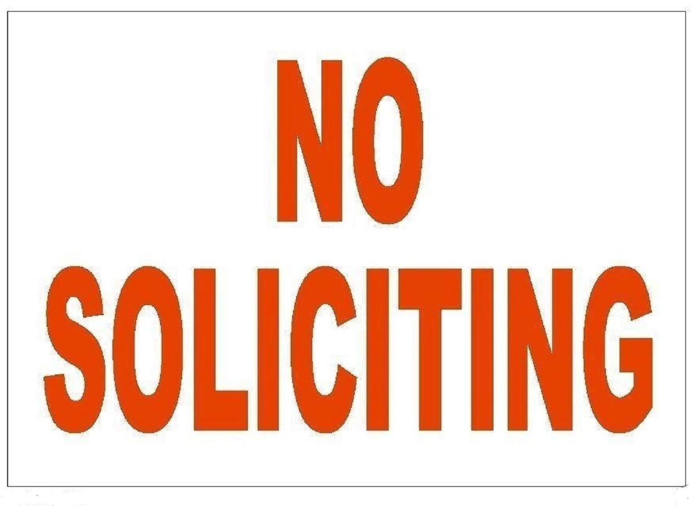 manda/_ol 12 Pack 7x10 inches No Soliciting Sticker Stop Salespeople Safety Business Sign Decal Label