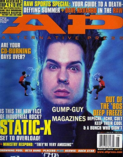 Angry Clown Face (Alternative Press 157 AP August 2001 Magazine IS THIS THE NEW FACE OF INDUSTRIAL ROCK? STATIC-X SET TO OVERLOAD! Ministry Respond: They're Very)