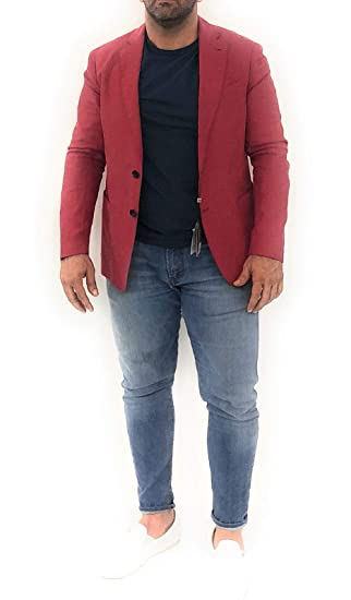 3348c3ff1 Armani Jeans Men's Jacket Red red: Amazon.co.uk: Clothing