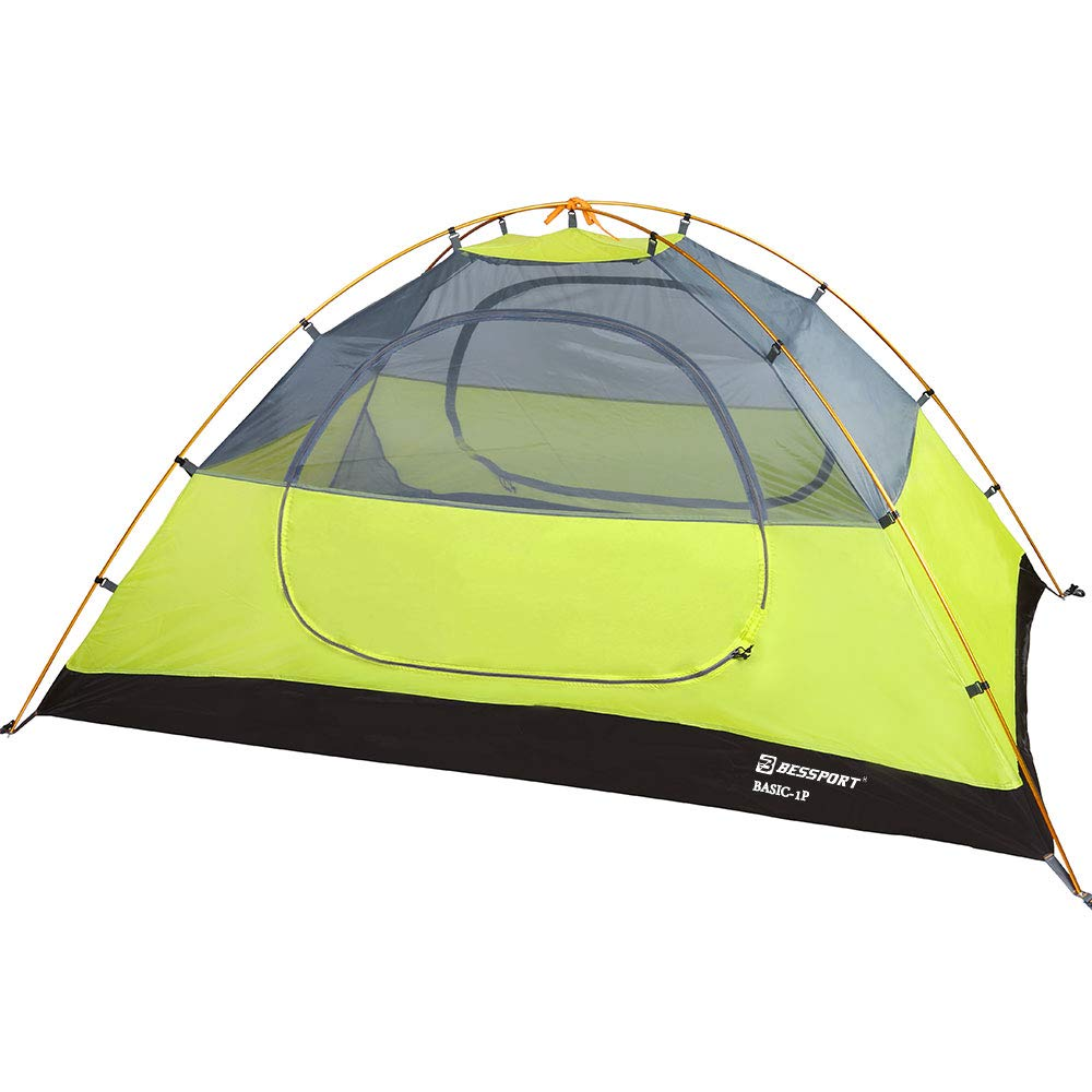 Bessport Camping Tent 1 and 2 Person Lightweight Backpacking Tent Waterproof Two Doors Easy Setup Tent for Outdoor Hiking Mountaineering Travel