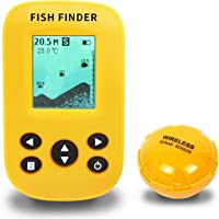 $58 » Ovetour Portable Wireless Fish Finder Sonar Sensor Transducer Water Depth and LCD Display…