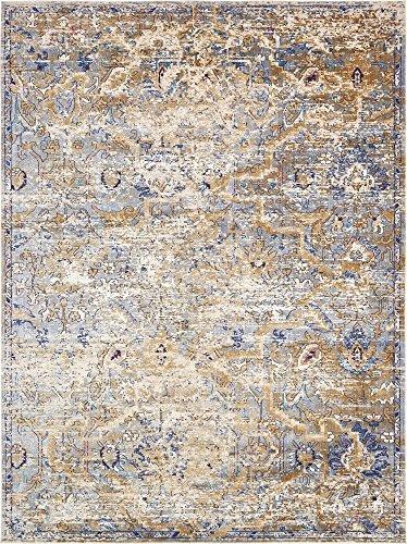 Unique Loom Lexington Collection Light Blue 9 x 12 Area Rug (9' x 12')