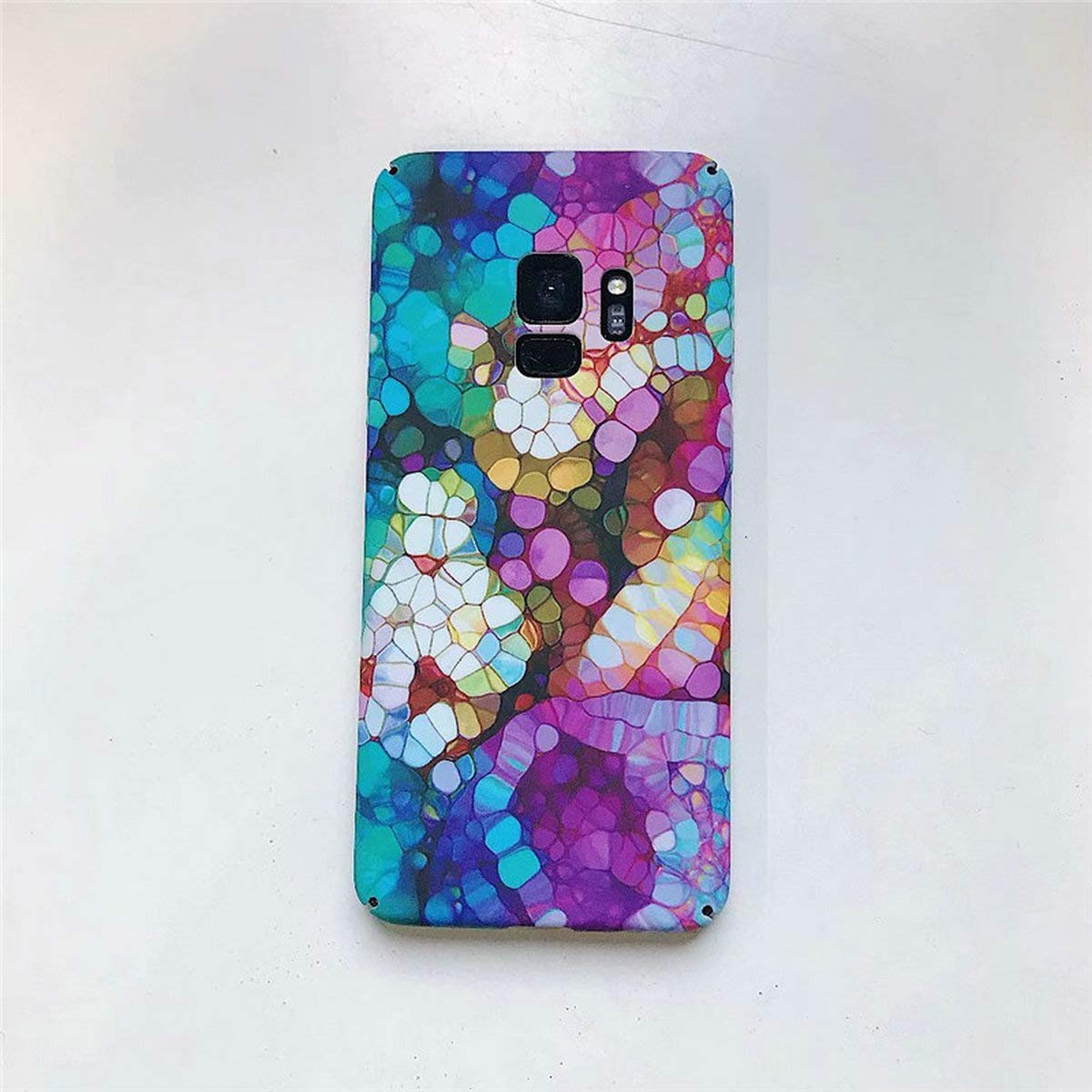 2165f72366 Amazon.com: Oil Samsung Galaxy S9 Case,Easeu Colorful Kaleidoscope Amazing  World Supler Slim Plastic Snap Back Cover Spectrum Hard Case for Samsung  Galaxy ...