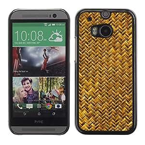 TopCaseStore / la caja del caucho duro de la cubierta de protección de la piel - Scales Gold Yellow Snake Bling Chevron - HTC One M8