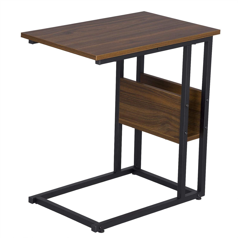 eSituro Tavolino da Salotto Piccolo da Salotto Tavolino da Appoggio da Divano Porta TV Riviste Design Industriale Moderno Struttura in Ferro SCD0080