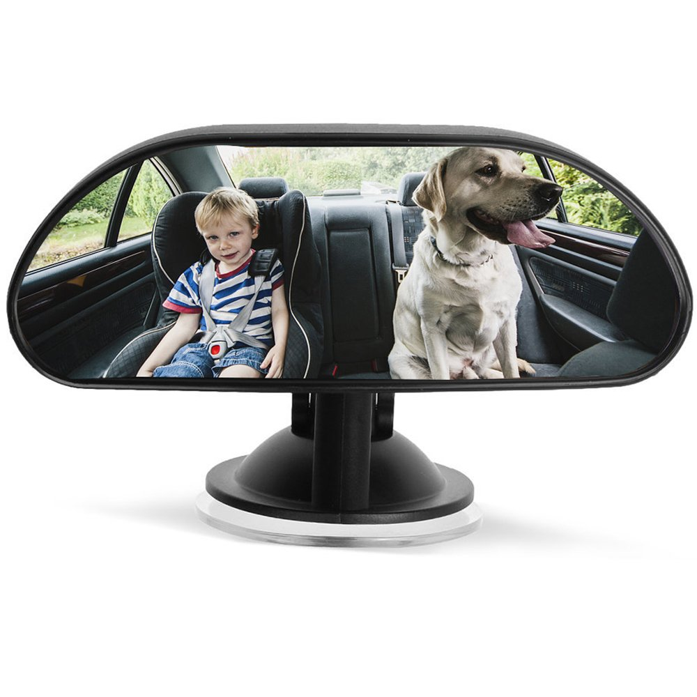 Baby Car Backseat Mirror - Car Rear Seat Facing - View Back Seat Mirror for Baby Safety - Car Adjustable Universal Back Seat Mirror Infant Mirror- New Style- Sucktion Cup on Windshield ZhuTook