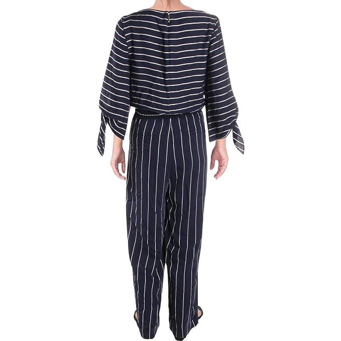 eb2978ca7c38 Amazon.com  Lauren by Ralph Lauren Womens Striped Satin Jumpsuit  Clothing