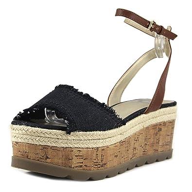 G By Guess Baker Femmes US 8 Bleu Sandales Compensés  Amazon.fr ... 90c103eda62