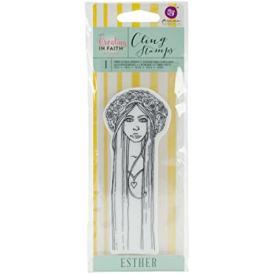 Prima Marketing Jamie Dougherty Creating in Faith Cling Stamps 2.25 x 6-inch Esther, 0.63x7.62x20.95 cm, Multicolour: Arts, Crafts & Sewing
