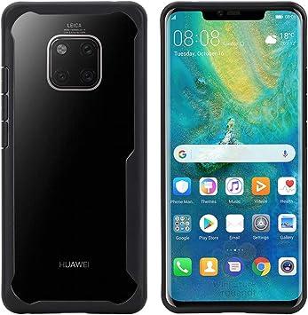 DDJ Funda para Huawei Mate 20 Carcasa de TPU Transparente Huawei Mate 20 Smartphone [a Prueba de Golpes] [Antideslizante] [Resistente a los arañazos], Compatible con Huawei Mate, Color Negro: Amazon.es: Electrónica