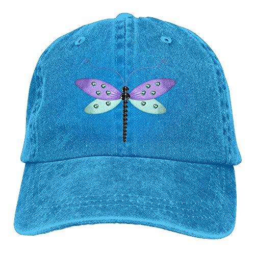 - Arsmt Dragonfly Denim Hat Adjustable Female Mini Baseball Caps