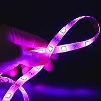 LED Light Strip 5M 300 LEDs 5050 RGB SMD Strip Light IP65 Waterproof Flexible Strip with 44 Key IR Remote Redvive