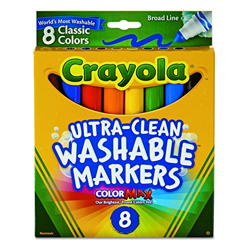 BIN587808 - 8 Classic Colors Washable Waterbased (Crayola Llc Color)