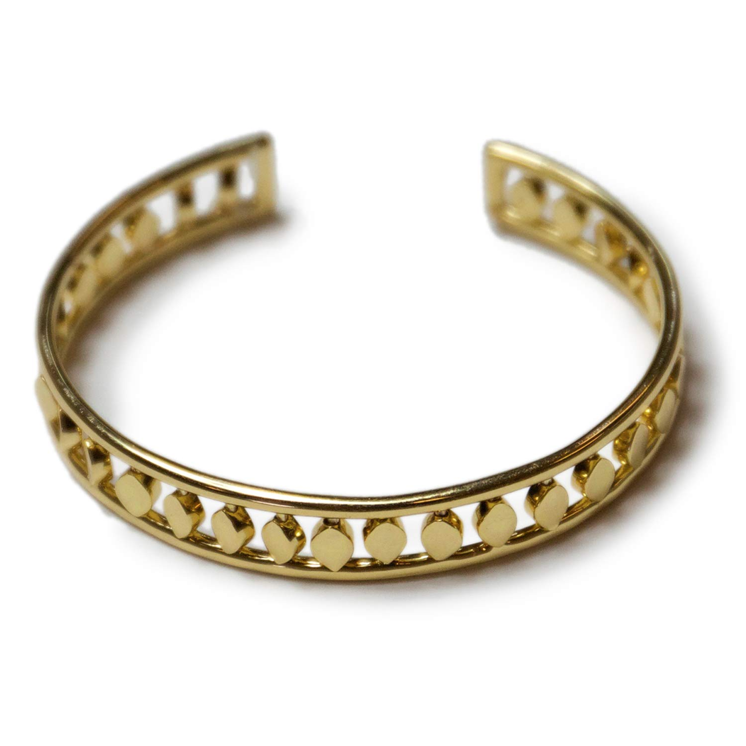 Jules Smith Aida Gold Cuff for Women or Girls: 14K Gold Plated Stylish Cuff Bracelet Features Diamond Shaped Etchings That Shimmer and Shine.