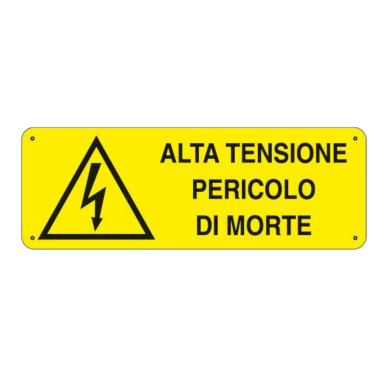 carteles de seguridad uni7543 alta tensión peligro de muerte ...