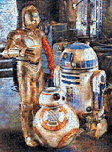 Star Wars - Photomosiac - Droids of the Resistance - 1000 Piece Jigsaw Puzzle by Buffalo Games