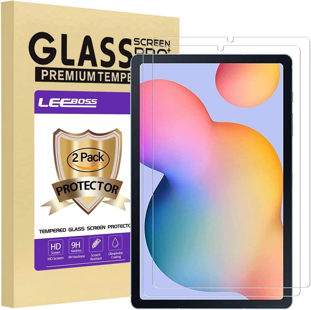 LEEBOSS Samsung Galaxy Tab S6 Lite Screen Protector Ultra Clear 9H Hardness Premium Tempered Glass Film Screen Protector for Galaxy Tab S6 Lite 2020 // SM-P610 P615 2 Pack 10.4 Inch